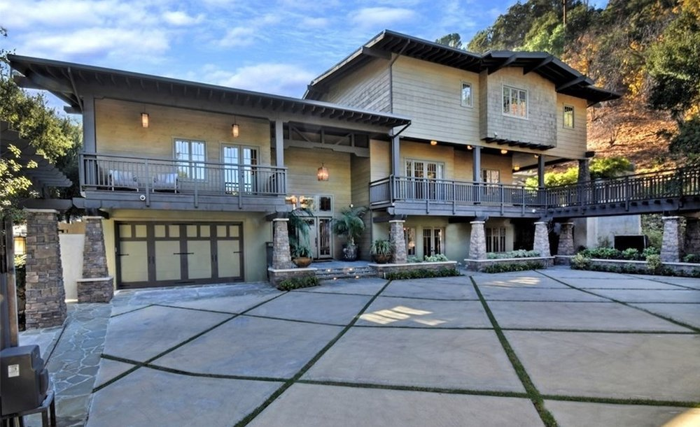 Craftsman style house in Studio City, listed at $7,550,000.  (10,015 sqft)
