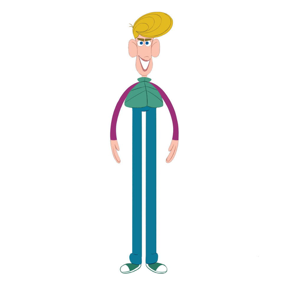 Long Boy - Long Boy is all legs and personality. He is the kid that always teases others and uses his length to his advantage. He believes that his height makes him far more capable of doing bigger things than the rest.