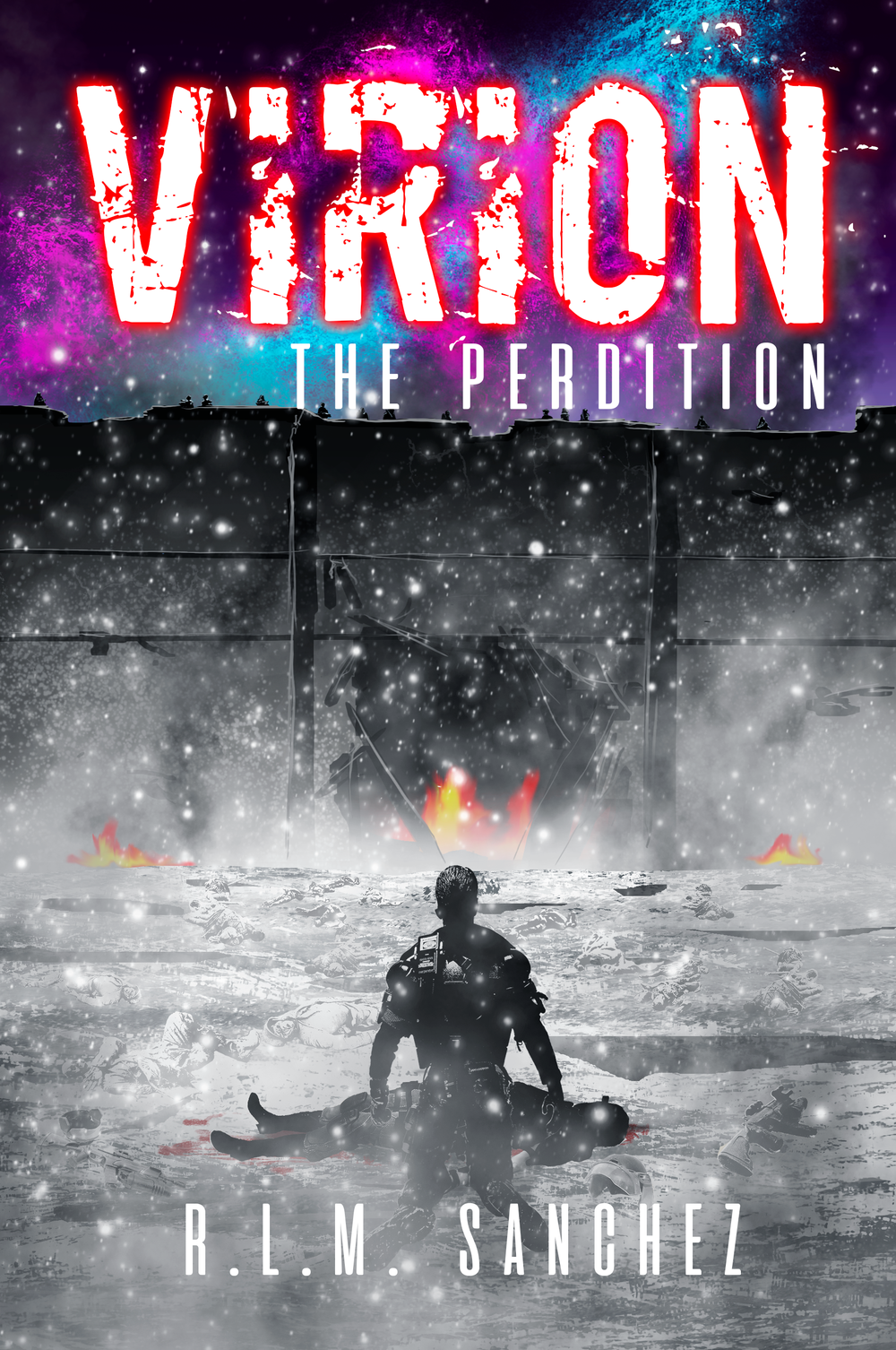 THE PERDITION (BOOK 4 of the VIRION SERIES) - Now Available!In McKenna's war between himself, Freedom City, and the Golden Bough, he will learn that being human will kill you...Elliot Draeger, once an Earth Federation scientist, was once motivated by curing the Black Cell. As a man of science, there was no solution he could not pursue in the name of human betterment. Now, years later, he has emerged as The Commander with a burning hatred for the Revente. Now he has created a new prize, Renatus, a genetically selective cure to the Black Cell, and he will risk everything to protect it. Armed with a deadly alliance with the notorious undercity gang Wargame, the naval might of the Tianglong Group, and the confidence of an ancient Order, Draeger aims to spark an uprising with the goal of uniting Earth against the Revente, Earth already sharing an animosity with the spacefaring species.After being blackballed by the Earth Council, McKenna invokes the Seventh Mandate, the secret directive of an Earth Marshal to break all established laws in order to preserve the greater good, and uses it to hunt Draeger with the full force of Interpol's ISTF Division. But unknown to him, Draeger is calculated, experienced, and blinded by vision while McKenna is tranced with correcting a past that cannot be undone. An idea has poisoned them both and nothing will stop them from meeting their fates.McKenna makes a final attempt to fulfill the wish of his dead lover, to be more than human. But in a world where such ideas kill the innocent and make villians of individuals, will McKenna save Freedom City from the grips of a new plague fueled insurrection, or die trying? The conclusion to the Virion series ends in The Perdition.