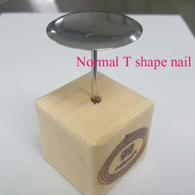 It fits very well with normal T shape nail, too