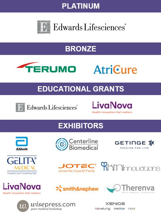ESCVS (67 th International Congress of the European Society of Cardiovascular and EndoVascular Surgery) Sponsors
