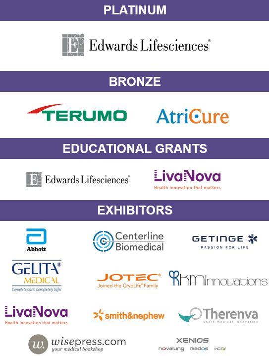 ESCVS (67 th International Congress of the European Society of Cardiovascular and EndoVascular Surgery) Sponsors
