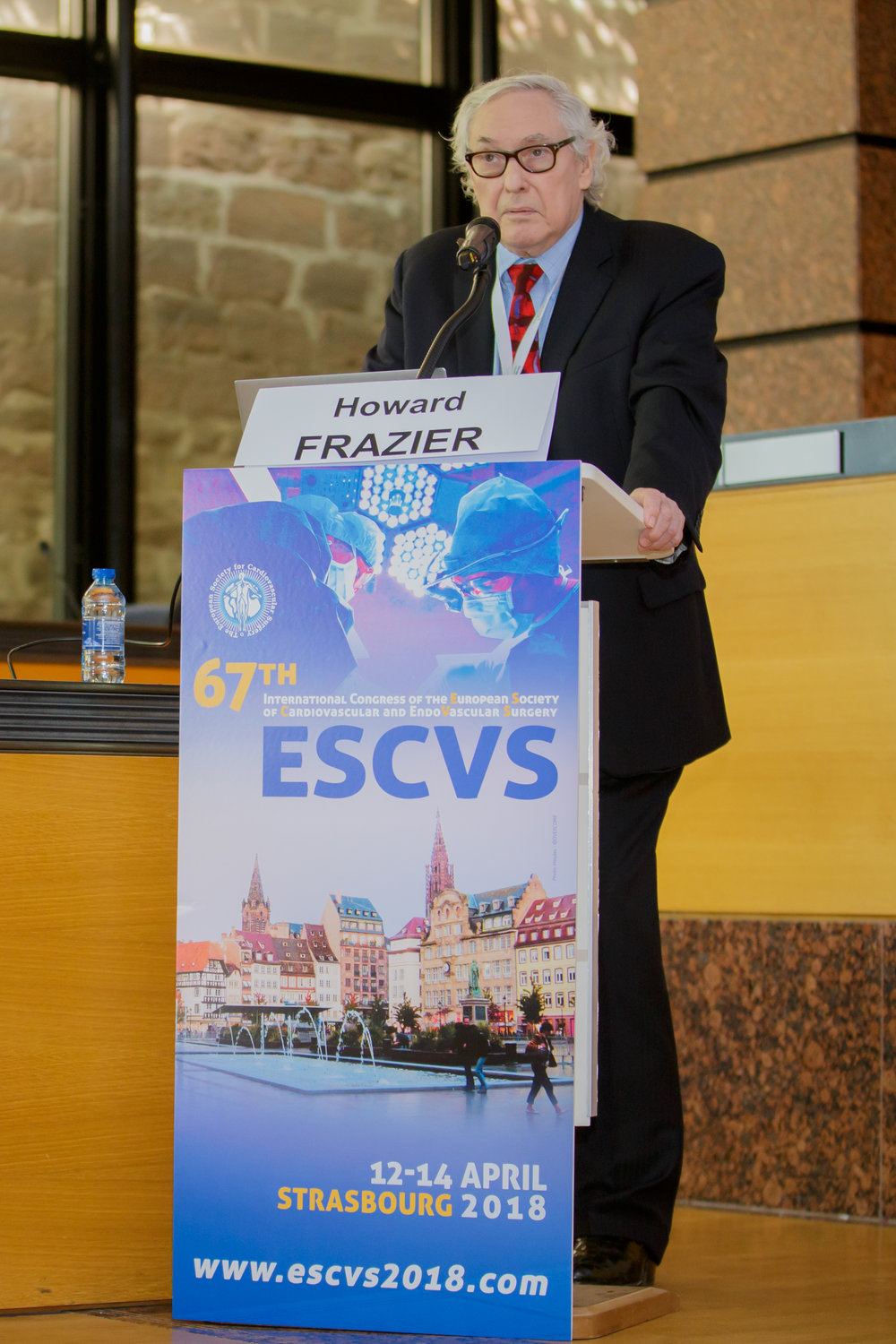 Pr. Howard Frazier at the 67th International Congress of the European Society of Cardiovascular and EndoVascular Surgery