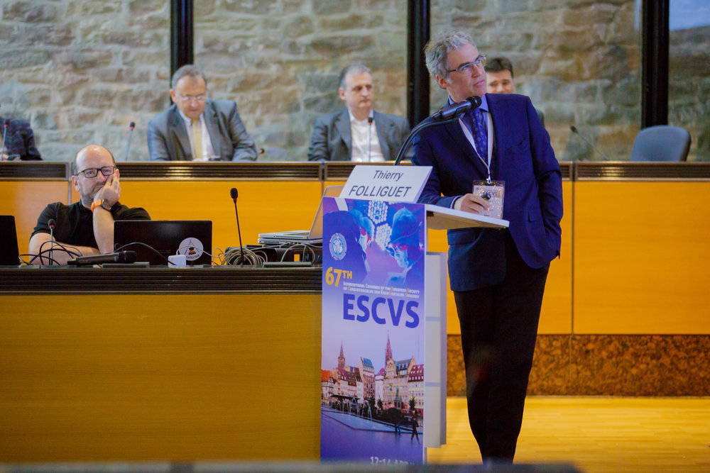 Pr Thierry Folliguet at the 67th International Congress of the European Society of Cardiovascular and EndoVascular Surgery