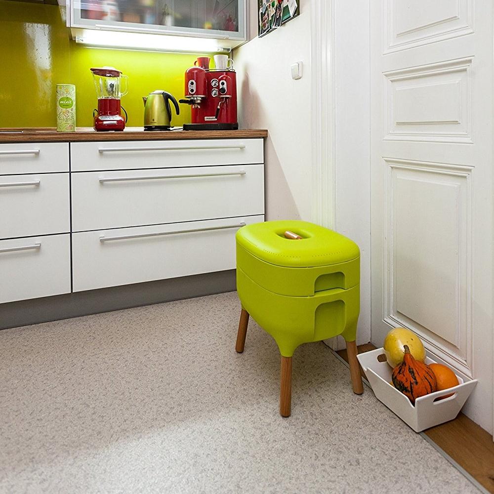 Coloca la compostadora en tu cocina