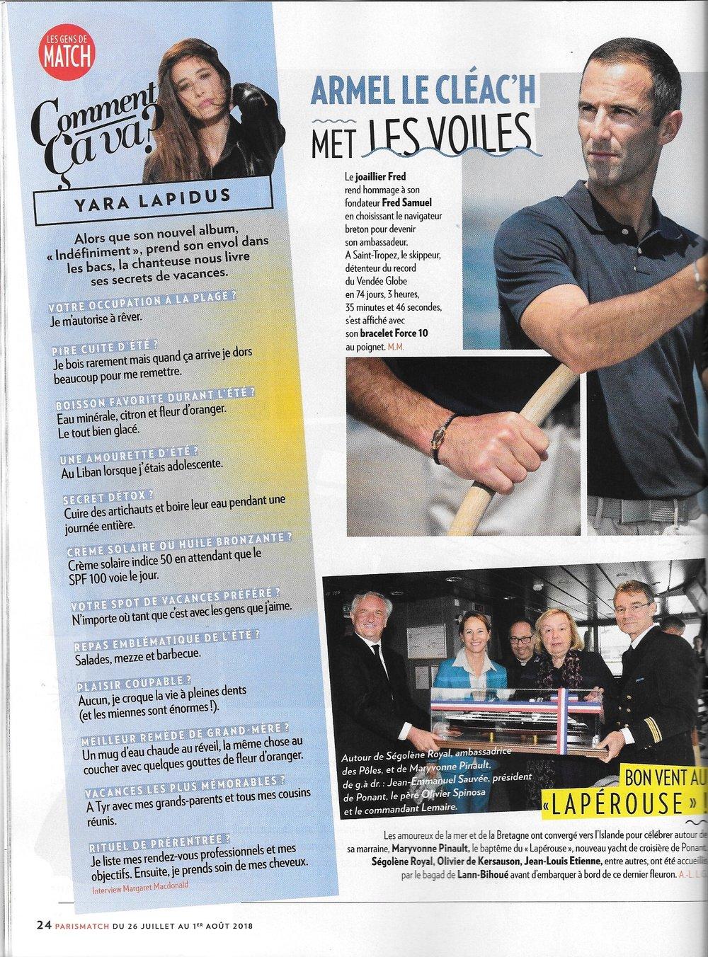Paris Match juillet 2018