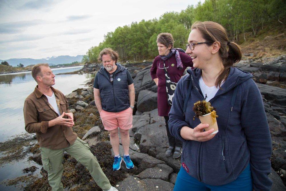 Exploring the seashore (© Siv-Elin Nærø)
