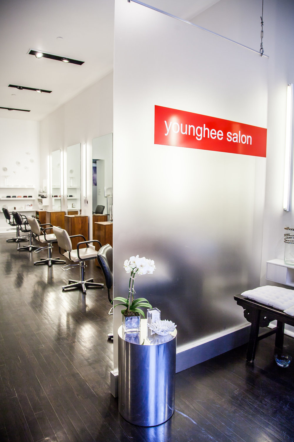 Interior of Younghee Salon in Tribeca New York