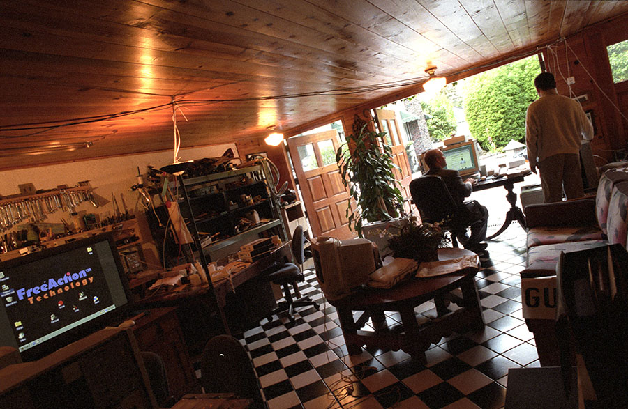 Since 1998, Barry Spencer's garage startup in his Santa Cruz home.