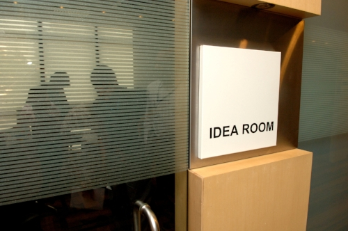 The 'Ideas Room' at Hewlett Packard's Indian head office in Bangalore.