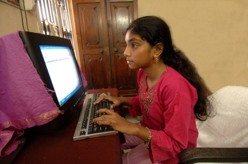 12-year-old Selvi, a schoolgirl in the Chennai suburb of KK Nagar, is part of the pilot scheme being run by Novatium - Selvi once got 100 out of 100 in a project on social science where she used the internet to research the project.