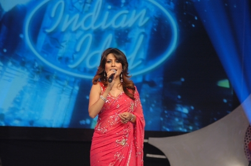 "Mini Mathur, the host of India Idol on air during last year's super popular TV ""Indian Idol"" for which Bombay-base start-up Mobile2win provided the SMS text services."