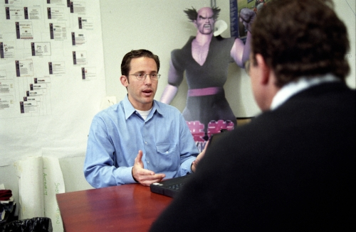 Josh Felsher, President of Spinner.com negotiating with the CEO of Gamespot regarding a joint marketing deal.