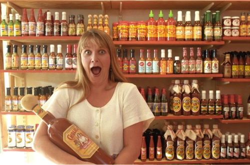 Monica Lopez , founder of Hothothot, Los Angeles, CA. Hot sauces fit perfectly into the category of what sells over the internet being a very specific product, easy to distribute and requiring specialised knowledge.