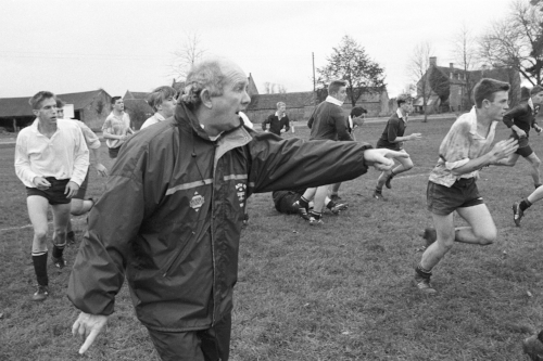Widely regarded as one of the most visionary coaches in the global game, Brian Ashton, seen here coaching the kids at Kings Bruton in Somerset.