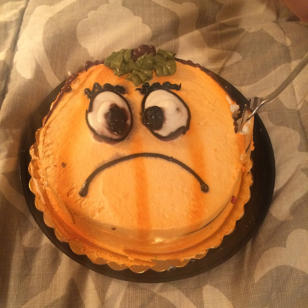 The saddest cake we ever did see.