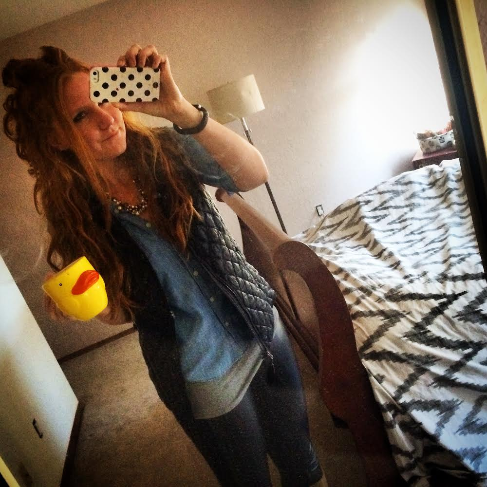 Leather leggings, chambray, and vests <333