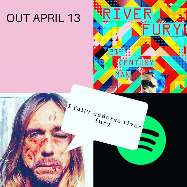 Thank you Iggy Pop for agreeing to feature in our promo. He took very little persuasion 👊 #single #release #april #13