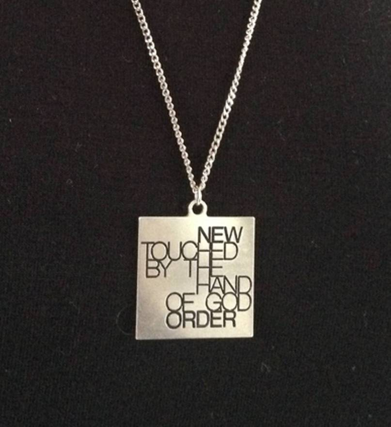 AW 2003-04 - Closer - Peter Saville design engraved in sterling silver.