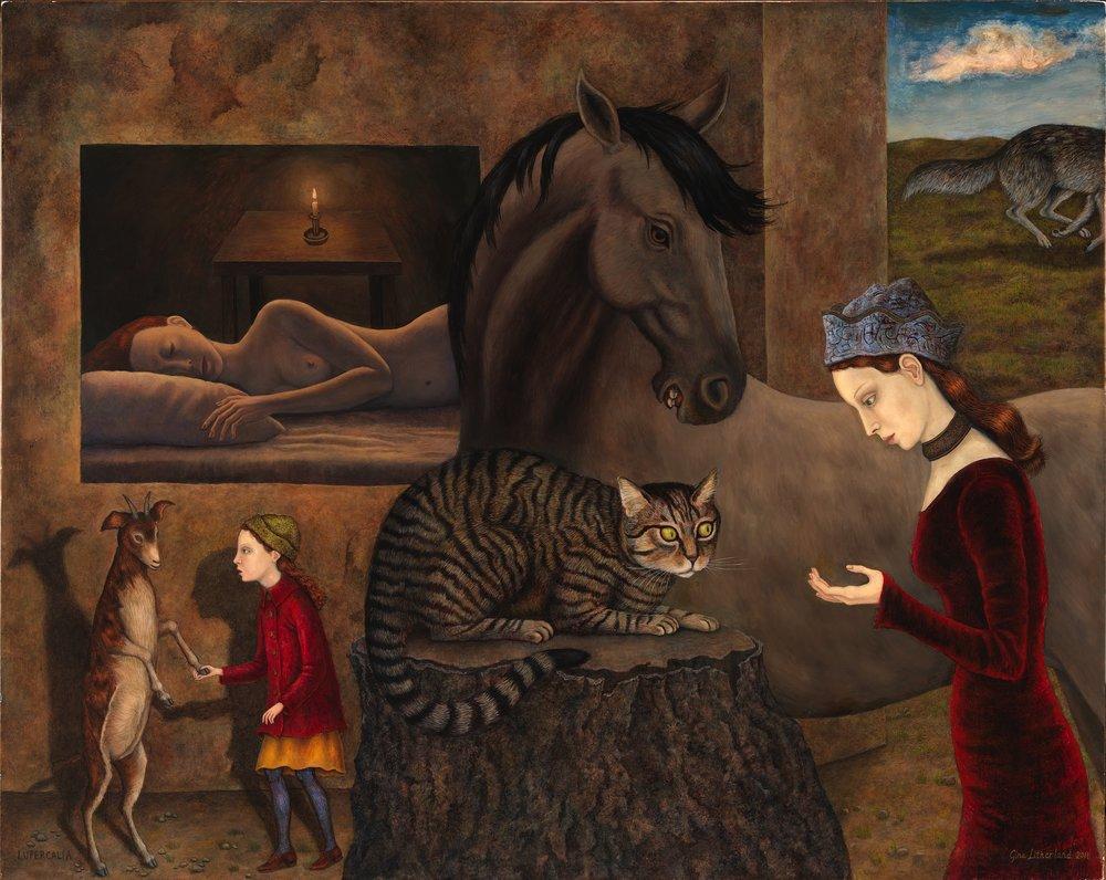"Lupercalia, 2011 (oil on panel, 24"" x 30"")"