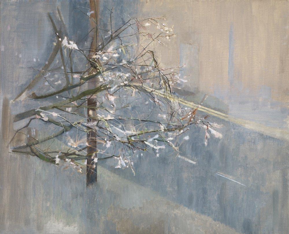 </strong><em>Town Light Winter</em> <br/> 2012-14 <br/>oil on canvas<br/>87 x 108cm <strong>