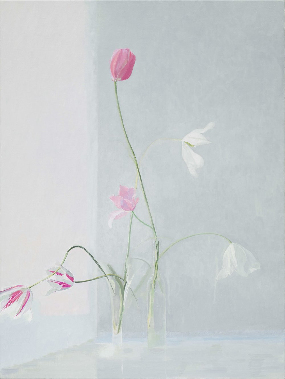 Tulips, 2018, oil on canvas, 120 x 90 cm
