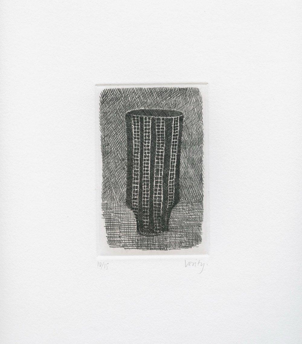 Lucie Rie Pot  2006 etching  32 x 25 cm