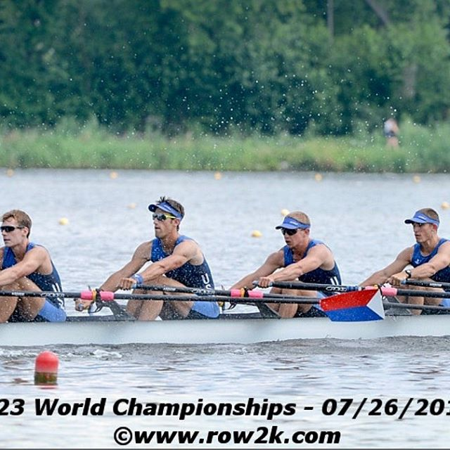 It's on to the reps for our guys in the USA M4X at #wru23champs! Put some coffee on and catch 'em live at 1:40 a.m. Friday (PST) on the @worldrowingofficial live stream. @beashark @crokeroarswest @crokerusa @jlracing #rowing #rowingteam #rowinglife #rowingrelated #aviron #canottaggio #rudern #wioślarstwo #roeien #remo