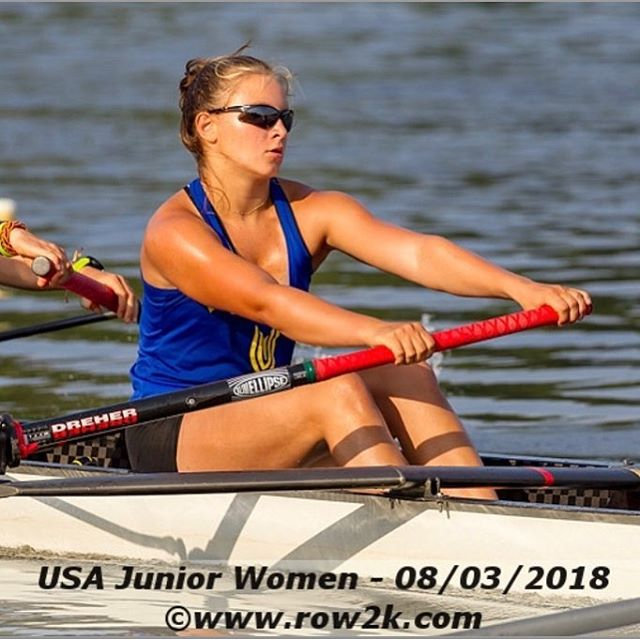 Our very own Wonder Woman, @gabbie_graves (aka Lightning McQueen) getting ready to take on the world in the U.S. W8+ at the World Rowing U-19 Champs in Racice 😎😍⚡️💪🏻 @bbrc_juniors @vespoliusa @usrowing #roadtoracice #wru19champs #rowing #rowingteam #rowinglife #rowingrelated #whorunstheworld #aviron #rudern #canottaggio #remo #roeien