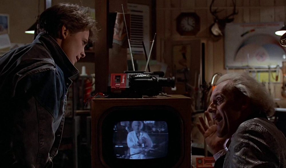 Images: An iconic retro 1980's JVC camcorder from the hit movie Back to the Future.