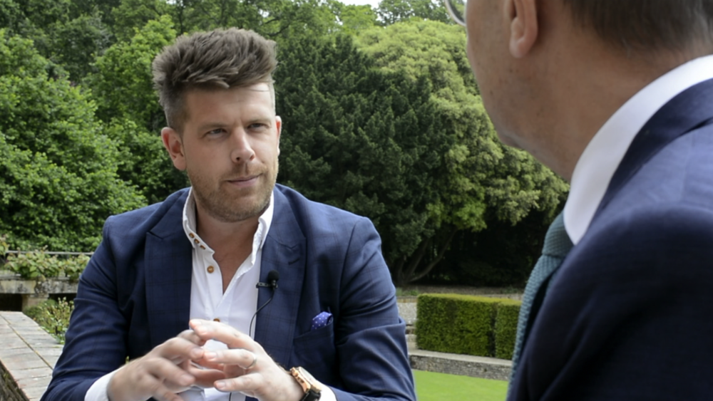 Image: Norwich based wedding videographer Benjamin chats with presenter Pete Goodrum at Voewood on the rising popularity of wedding videography.