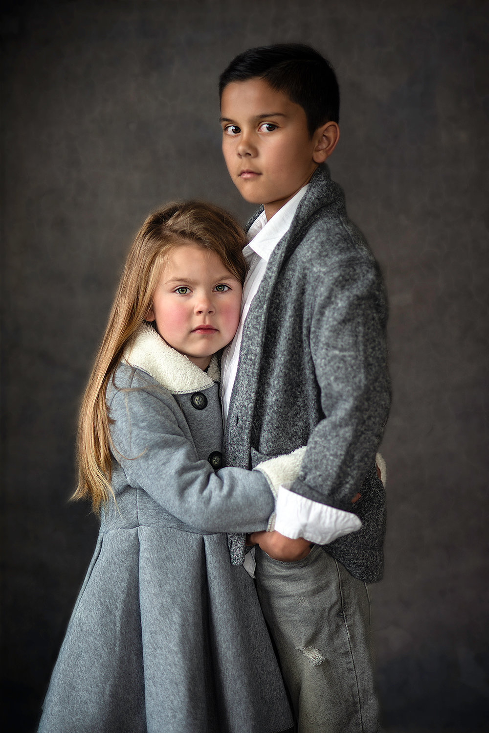 Fine Art Photography of a Brother and Sister in McKinney Texas Studio