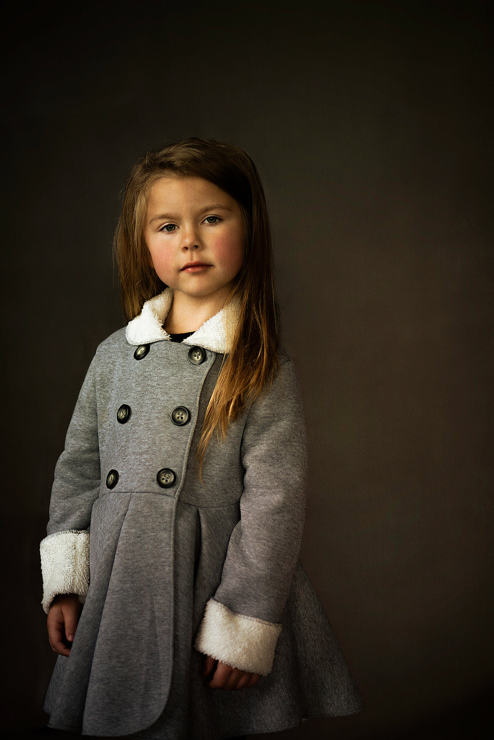 Fine Art Children's Portraiture of girl with renaissance feel in McKinney Texas