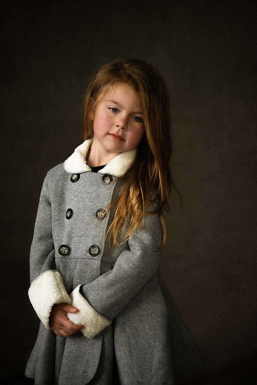 Fine Art Children's Portraiture of girl in McKinney Texas Studio