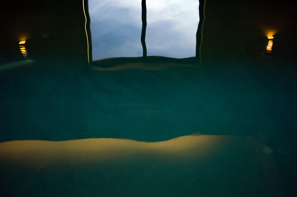 Reflection In Swimming Pool