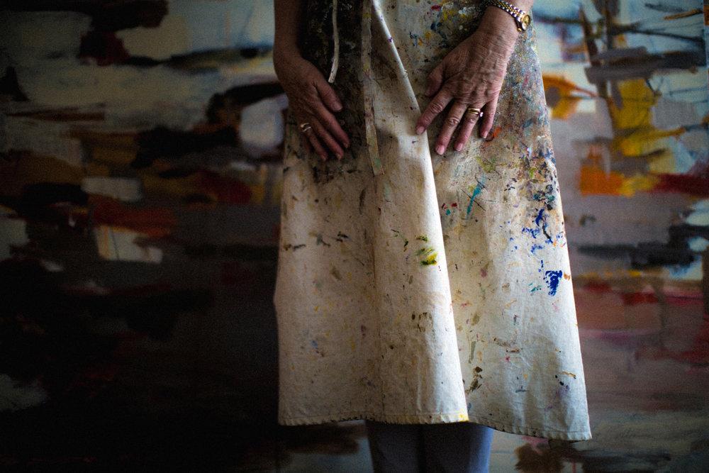 Nell Tilton in Her Studio
