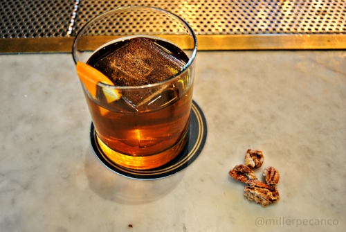 The Dagwell Dixie offers distinct pecan flavor and smooth rye spice. Also included are Applejack, Hella Orange Bitters and JT Decanter Bitters.