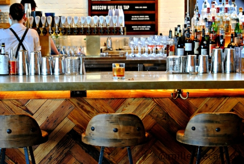 There is always a seat for you to enjoy a Dagwell Dixie Signature Cocktail featuring Miller pecans at The Jones Assembly.