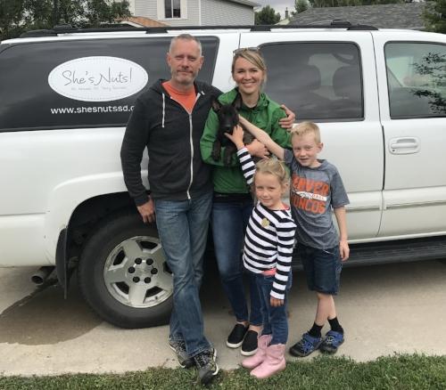Kari, her husband Sean, and their two kiddos, Addison and Kilian.