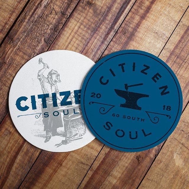 #collateraldesign for @CitizenSoul_alpharetta. This blacksmith bear/human illustration is surprisingly versatile. 😀⠀ •⠀ •⠀ •⠀ With @nocturnalsketches. In partnership with Hot, Inc.⠀ #logodesign #restaurantdesign #craftbeer #restaurants #delicious #restaurantidentity #restaurantbranding #californiacuisine in #alpharetta #restaurantmarketing #restaurantlogo #funwithfood #restaurant #brandstrategy #757 #food52 #foodie #norfolk #atlanta #atlantaeats #gritsandgrids @gritsgrids #artofthemenu #restaurantmarketing