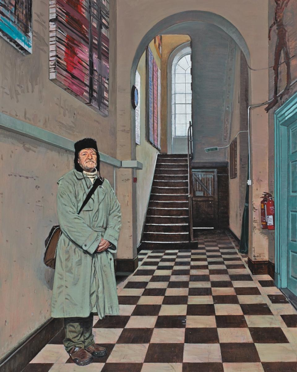 'The Sentinel of Henrietta Street'Acrylic