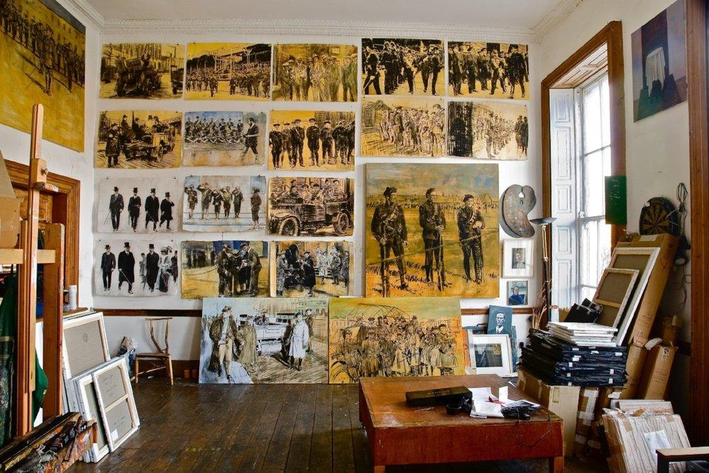 Studio Interior,Work in Progress, 2009