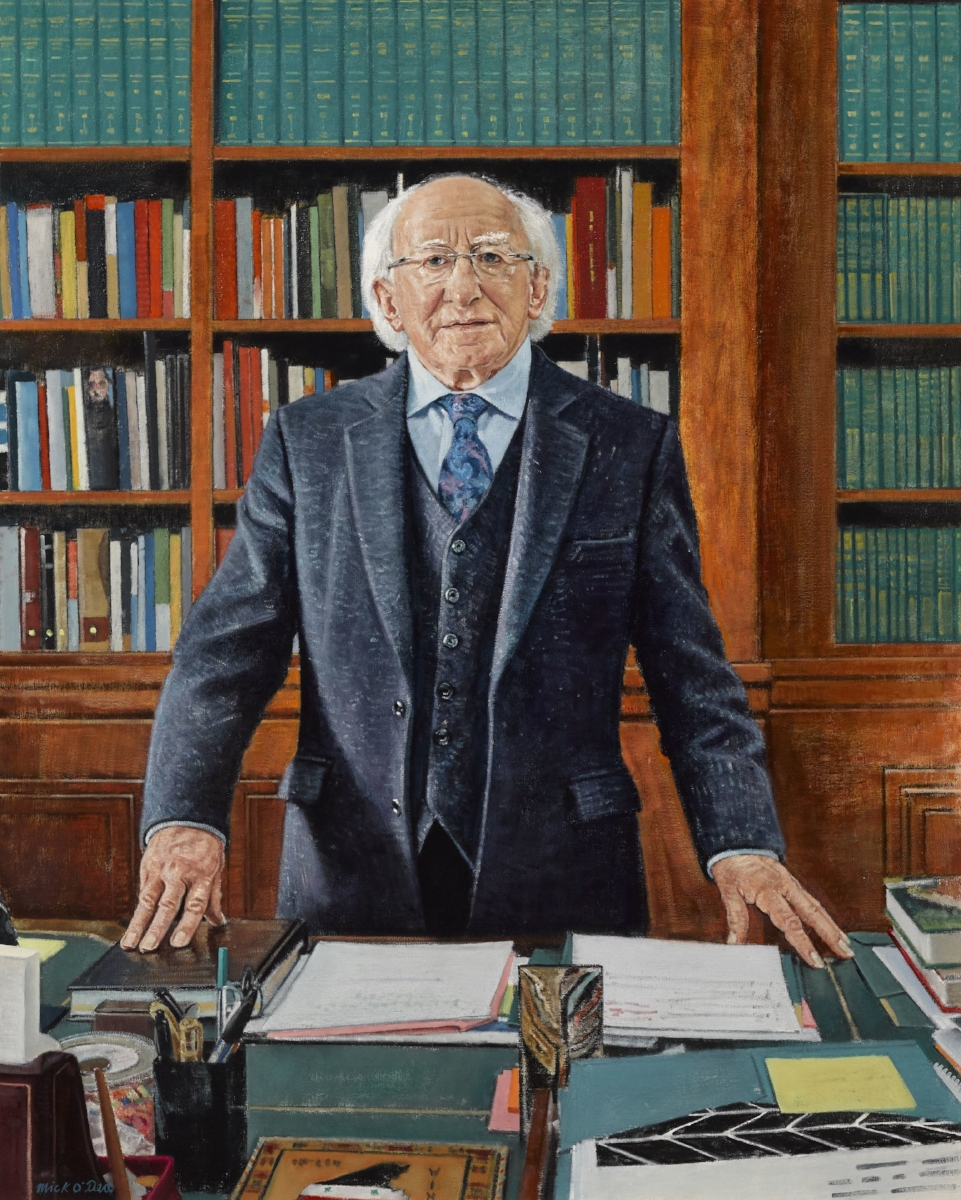 President of Ireland, Michael D.Higgins, Oil on Canvas