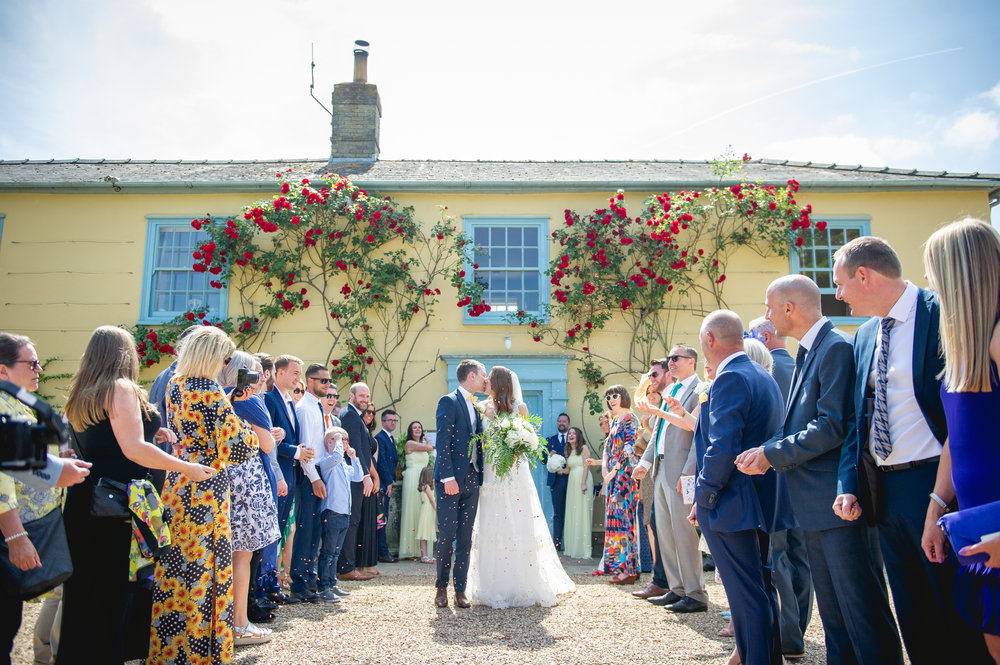 Dan and Rian's beautiful South Farm wedding. Image by     Murley & Maples