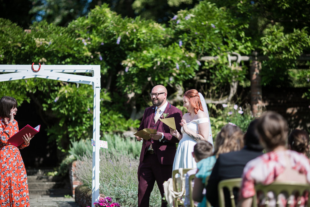 Amanda and Matt opening up their 'Love Reasons' … with some trepidation! Image by Him and Her