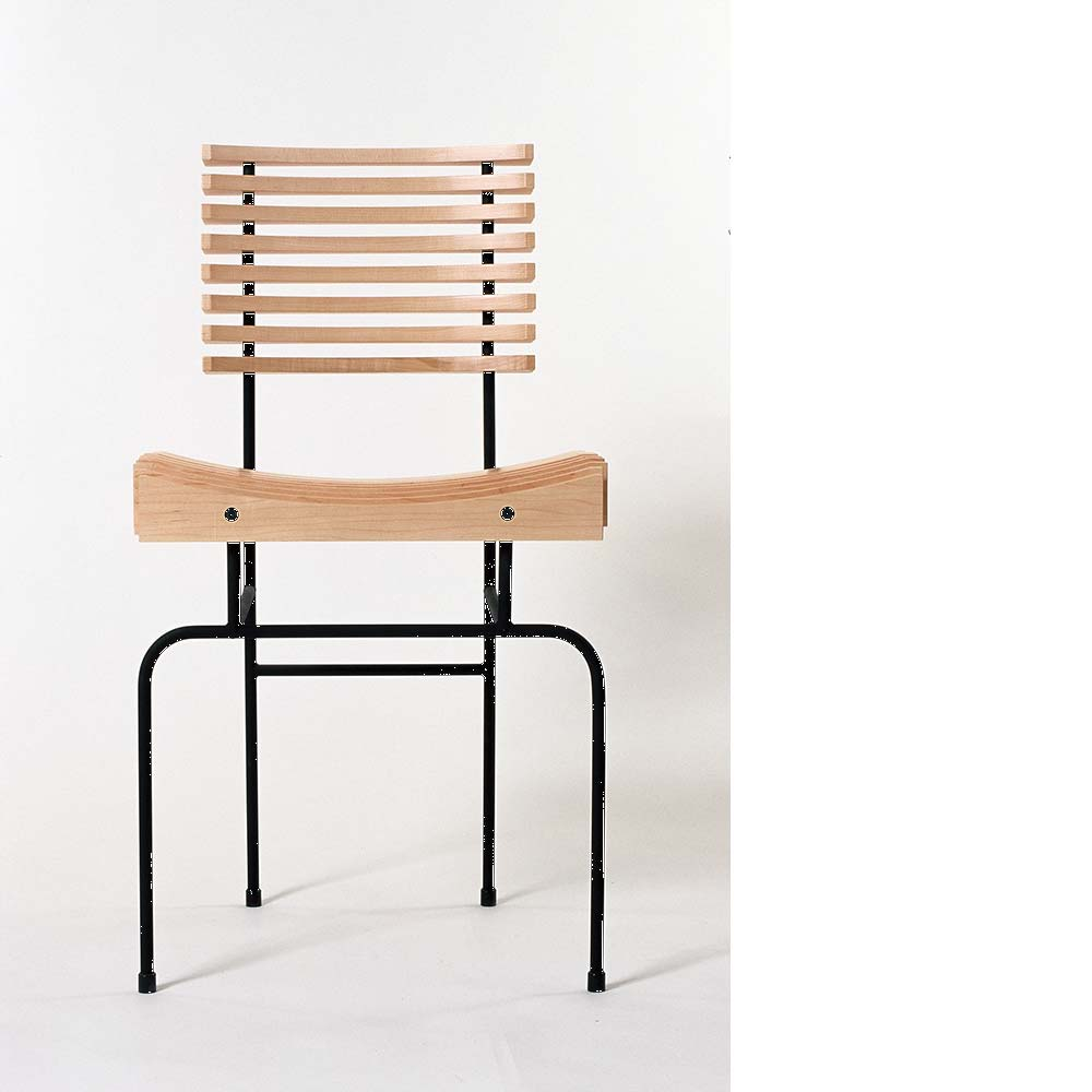 Details - Dimensions: seat height 46cm, back height 82cm, width 45cm, depth 40cm.Limited edition no. 26 now available.Price: From €690The slatted chairs need to be made in batches of four or more. Please contact Colin to discuss any custom requirements and expected delivery times.
