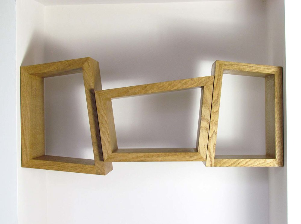 Three Shelves - made from wild Irish oak
