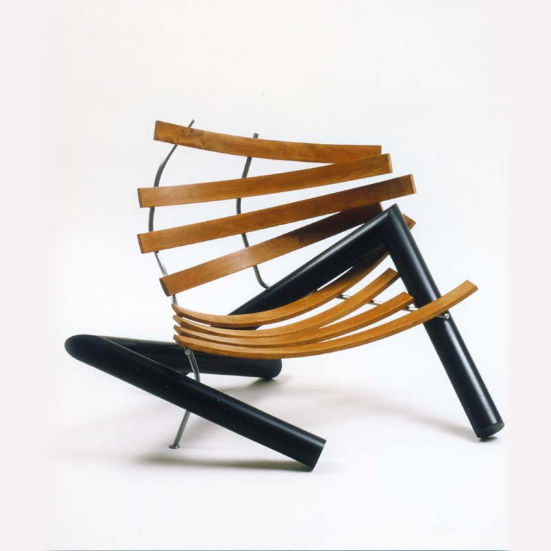 Concept - The schiele chair was inspired by the Egon Schiele painting