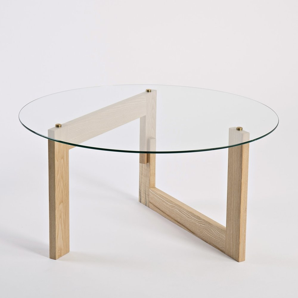 Materials - The table is handmade in beautiful wild Irish ash and finished with a hardwearing, natural, hand rubbed oil. The glass is toughened safety glass making it safe to handle.The wild Irish ash trees are sourced from Co. Wicklow and are either windblown or have reached their end of life and need to be taken down. They are unmanaged