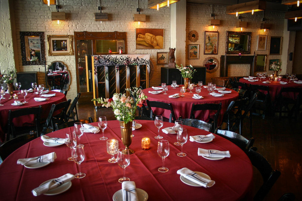 Hubbard Inn offers three floors of both private and semi-private event spaces that can host 10-700 guests.